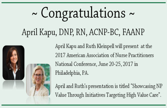 Kapu & Kleinpell to Present at AANP