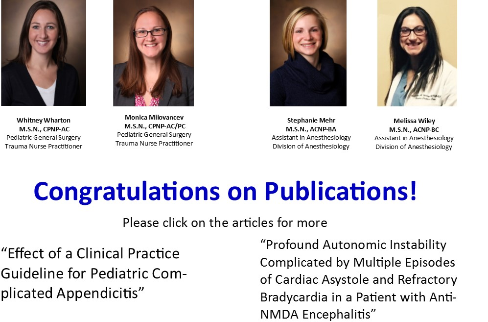 Congratulations with publications