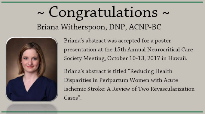 Congrats to Briana Witherspoon!
