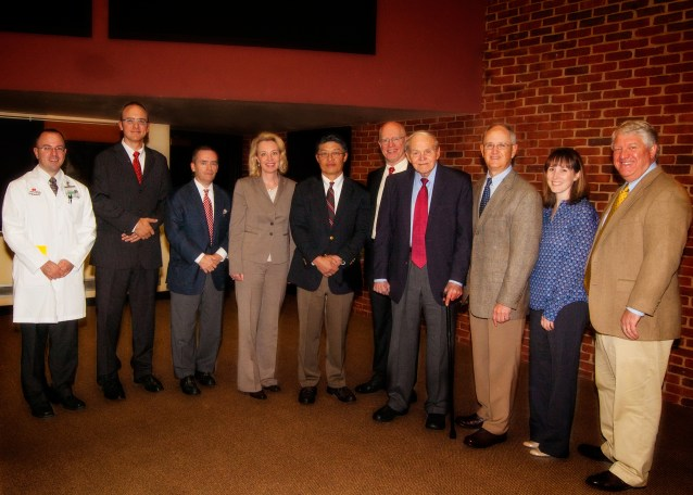 2013 Holcomb Lecture - Pediatric Surgery Faculty, Dr. George W. Holcomb, Jr. and guest speaker, Dr. Kevin P. Lally