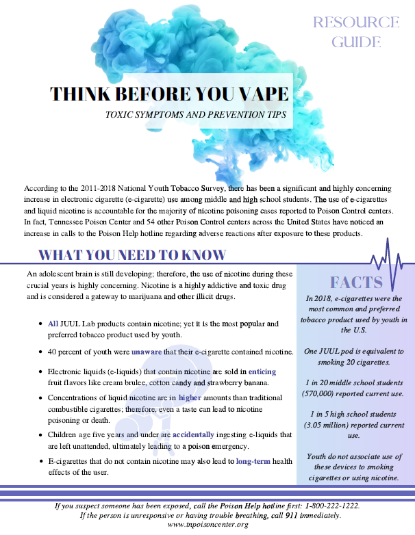 Think Before You Vape