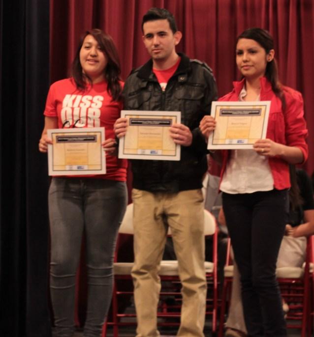 2013 winners:  Kimberly Gonzalez, Salvador Hernandez, Rosyvel Ramirez, Louisa Ekem (not pictured)