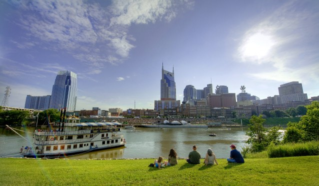 Downtown Nashville at Riverfront Park