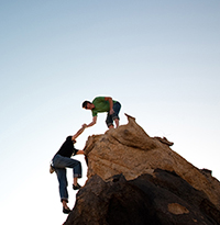 Image of rock climbers